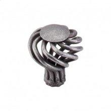 Round Small Twist Knob 1 1/4 Inch - Pewter