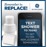 GE Replacement Water Filter - Shower Filtration System