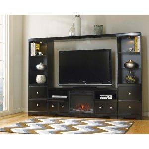 Ashley Furniture Shay - Black 5 Piece Entertainment Set