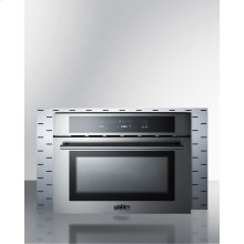 Stainless Steel Trim Kit To Extend Width of Cmv24 Speed Oven To 30""