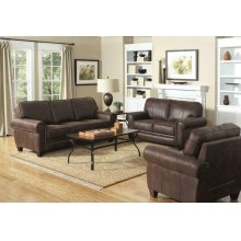 Allingham Traditional Brown Three-piece Living Room Set