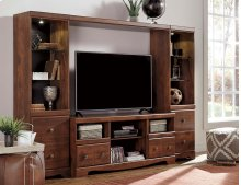 Brittberg - Reddish Brown 4 Piece Entertainment Set