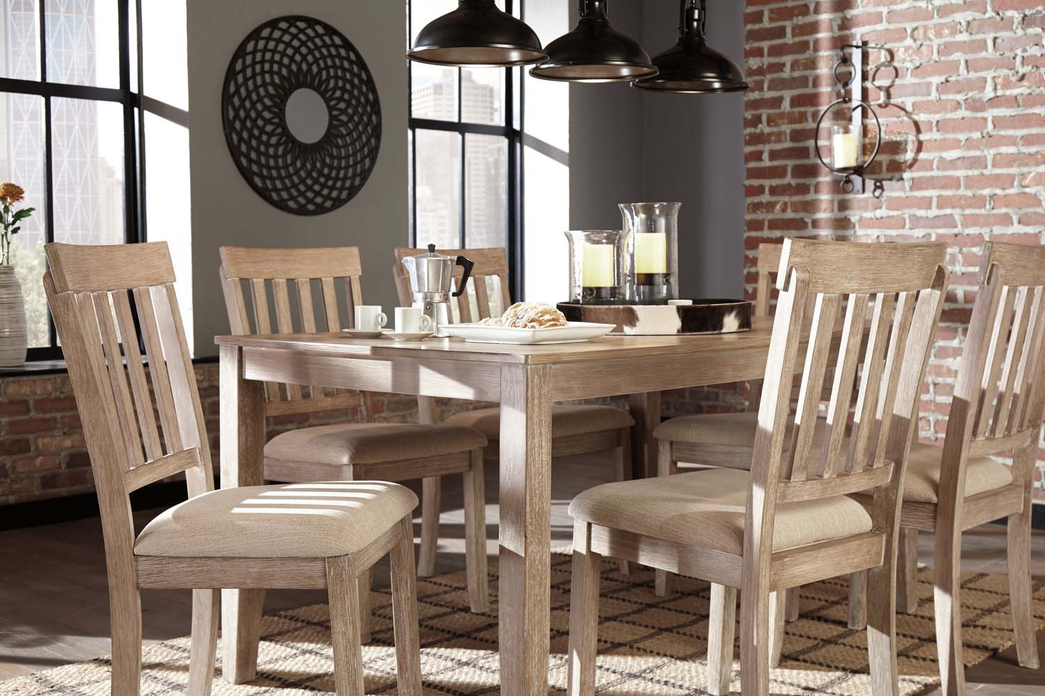 Ashley Furniture 7 Pc Dining Room Table Set