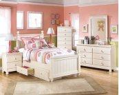 Cottage Retreat - Cream Cottage 4 Piece Bed Set (Twin)