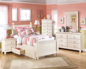 Cottage Retreat - Cream Cottage 4 Piece Bed Set (Full)