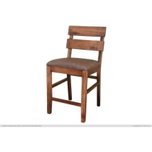 """24"""" Barstool for Counter Height Table - with Faux Leather seat"""