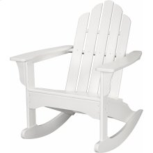 All-Weather Adirondack Rocking Chair in White