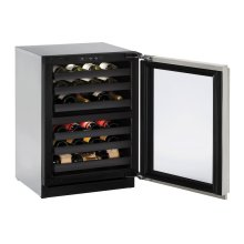 """Modular 3000 Series 24"""" Wine Captain® Model With Stainless Frame Finish and Field Reversible Door Swing (115 Volts / 60 Hz)"""