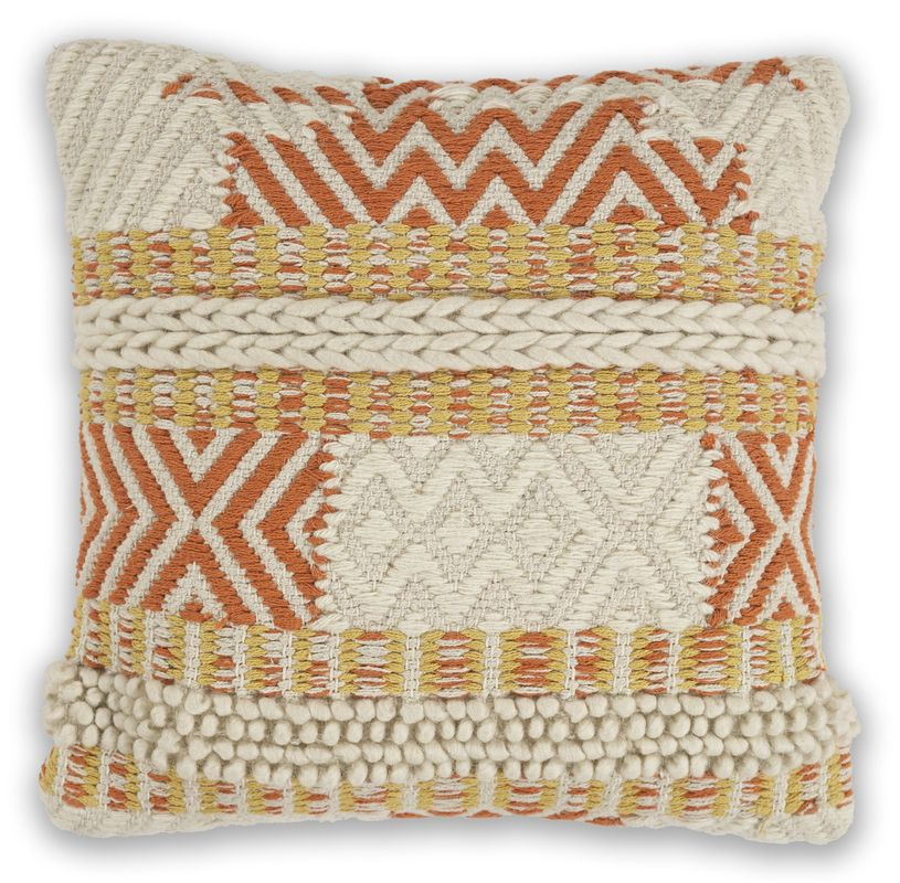 "Pillow L335 Ivory/spice Playa 18"" X 18"""