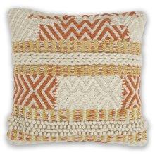 "Pillow L335 Ivory/spice Playa 18"" X 18"""