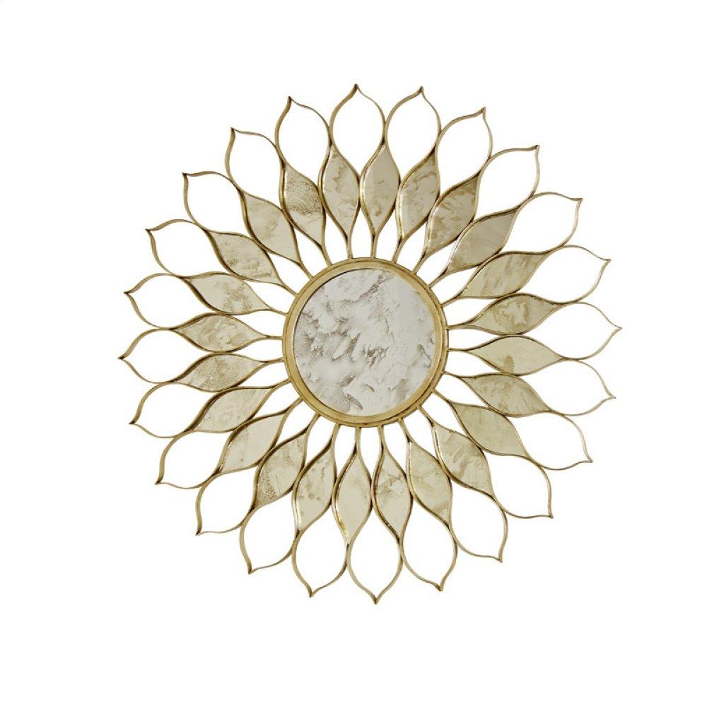 Gold Leafed Iron Mirror