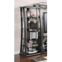 Contemporary Matte Black Media Tower Product Image