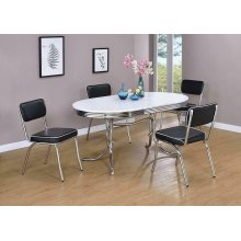 Retro Collection Chrome Dining Chair
