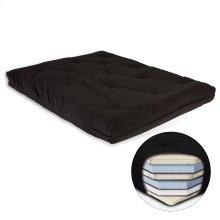 8-Inch Futon Mattress with Multi-Layer Cotton and Foam Core, Black
