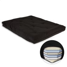8-Inch Futon Mattress with Multi-Layer Cotton and Foam Core, Black