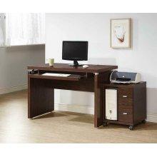 Contemporary Medium Oak Computer Desk