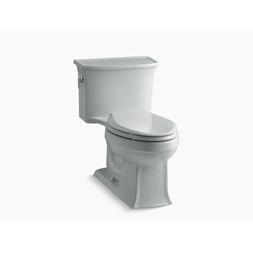 Ice Grey One-piece Elongated 1.28 Gpf Toilet With Aquapiston Flush Technology and Left-hand Trip Lever