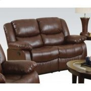 Brown Loveseat W/motion Product Image
