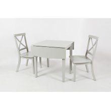 Everyday Classics Drop Leaf Table With 4 X Back Chairs- Dove