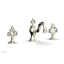 COURONNE Widespread Faucet Cross Handles 163-01 - Satin Nickel