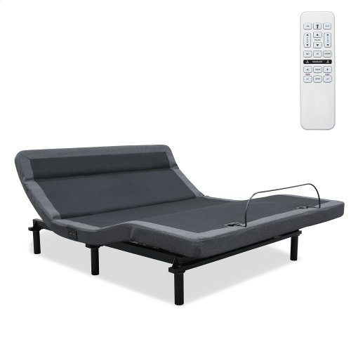 Williamsburg+ Adjustable Bed Base with Independent Pillow Tilt and (2) USB Charging Ports, Gray Finish, Split California King
