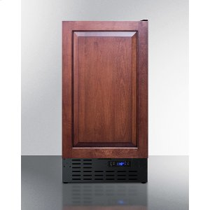 """Summit18"""" Wide Frost-free Icemaker In for Built-in or Freestanding Use, With Panel-ready Door and Black Cabinet"""