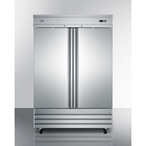 SummitCommercially Approved Frost-free Reach-in Two-door Freezer In Complete Stainless Steel; Replaces Scff495