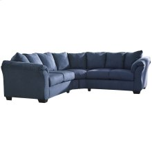 Signature Design by Ashley Darcy Sectional in Blue Microfiber