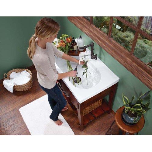 """Portland 36"""" Bathroom Vanity Cabinet Base in Rustic Pine"""