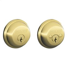 Double Cylinder Deadbolt - Bright Brass