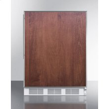 Built-in Undercounter ADA Compliant Refrigerator-freezer for General Purpose Use, W/dual Evaporator Cooling, Ss Frame for Slide-in Panels, and White Cabinet