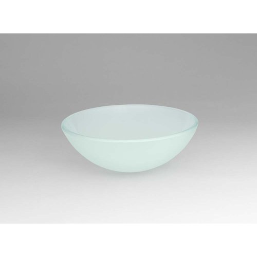 Round Tempered Glass Vessel Bathroom Sink in Obscure Glass