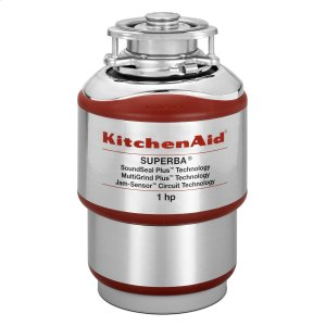 KitchenAid1-Horsepower Continuous Feed Food Waste Disposer Red