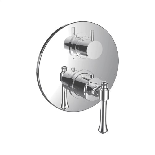 """7099at-tm - 1/2"""" Thermostatic Valve With Volume Control and 3-way Diverter in Standard Pewter"""