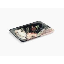 Blush Floral In Blush Floral On Carillon Rectangle Wading Pool Vessel Bathroom Sink