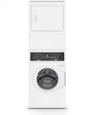 White Stacked Washer Dryer (Electric) Product Image