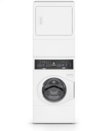 White Stacked Washer Dryer (Electric)