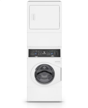 White Stacked Washer Dryer (Gas)