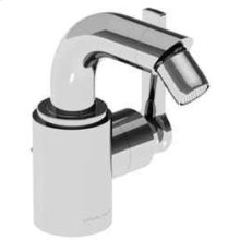 Chrome Plate Single lever bidet mixer with pop-up waste, right handed