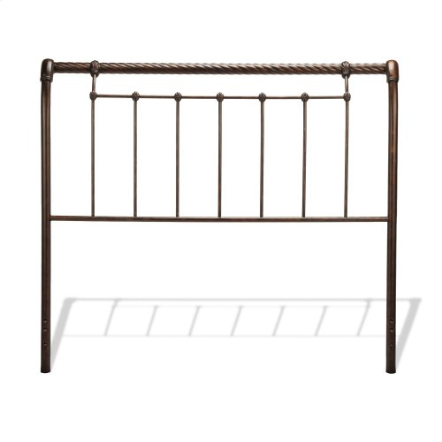 Legion Bed with Metal Sleigh Panels and Twisted Rope Top Rails, Ancient Gold Finish, California King