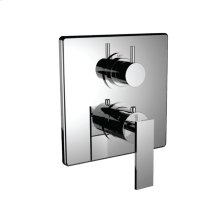 "7098em-tm - 1/2"" Thermostatic Trim With 3-way Diverter Trim (shared Function) in Polished Chrome"