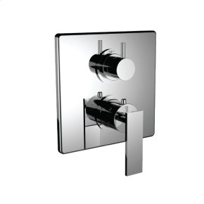 """7098em-tm - 1/2"""" Thermostatic Trim With 3-way Diverter Trim (shared Function) in Polished Chrome"""