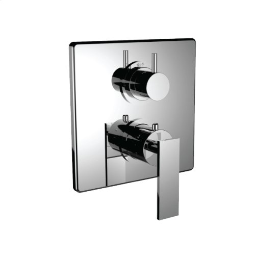 "7098em-tm - 1/2"" Thermostatic Trim With 3-way Diverter Trim (shared Function) in Polished K Gold"