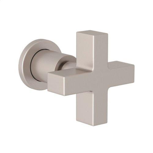 Satin Nickel Pirellone Trim For Volume Control And Diverter