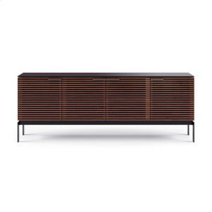 Sv 7129 Quad Media Console Credenza in Chocolate Stained Walnut -