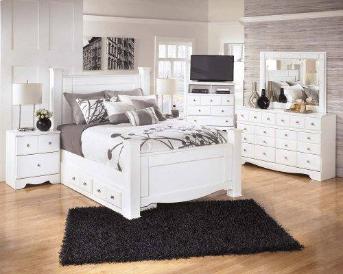 Weeki - White 5 Piece Bed Set (Queen)