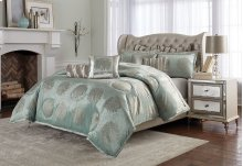 10pc King Comforter Set Ice Blue