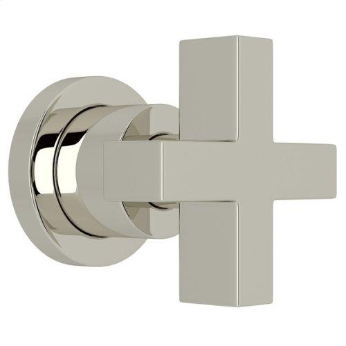 "Polished Nickel Pirellone 3/4"" Volume Control Trim with Cross Handle"