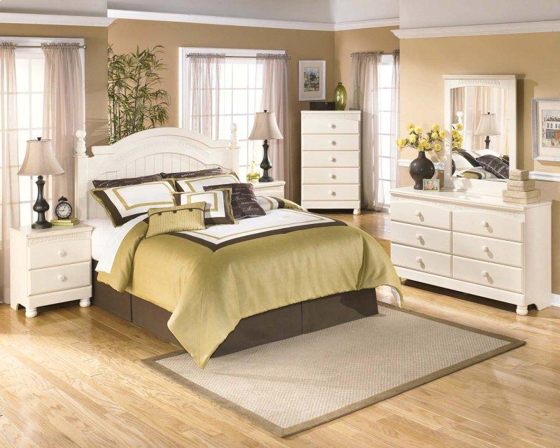 Cottage Retreat Cream 5 Piece Bedroom Set