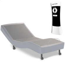 Signature Adjustable Bed Base with Ultra-Quiet Motor and Wireless Remote, Gray Finish, Twin XL